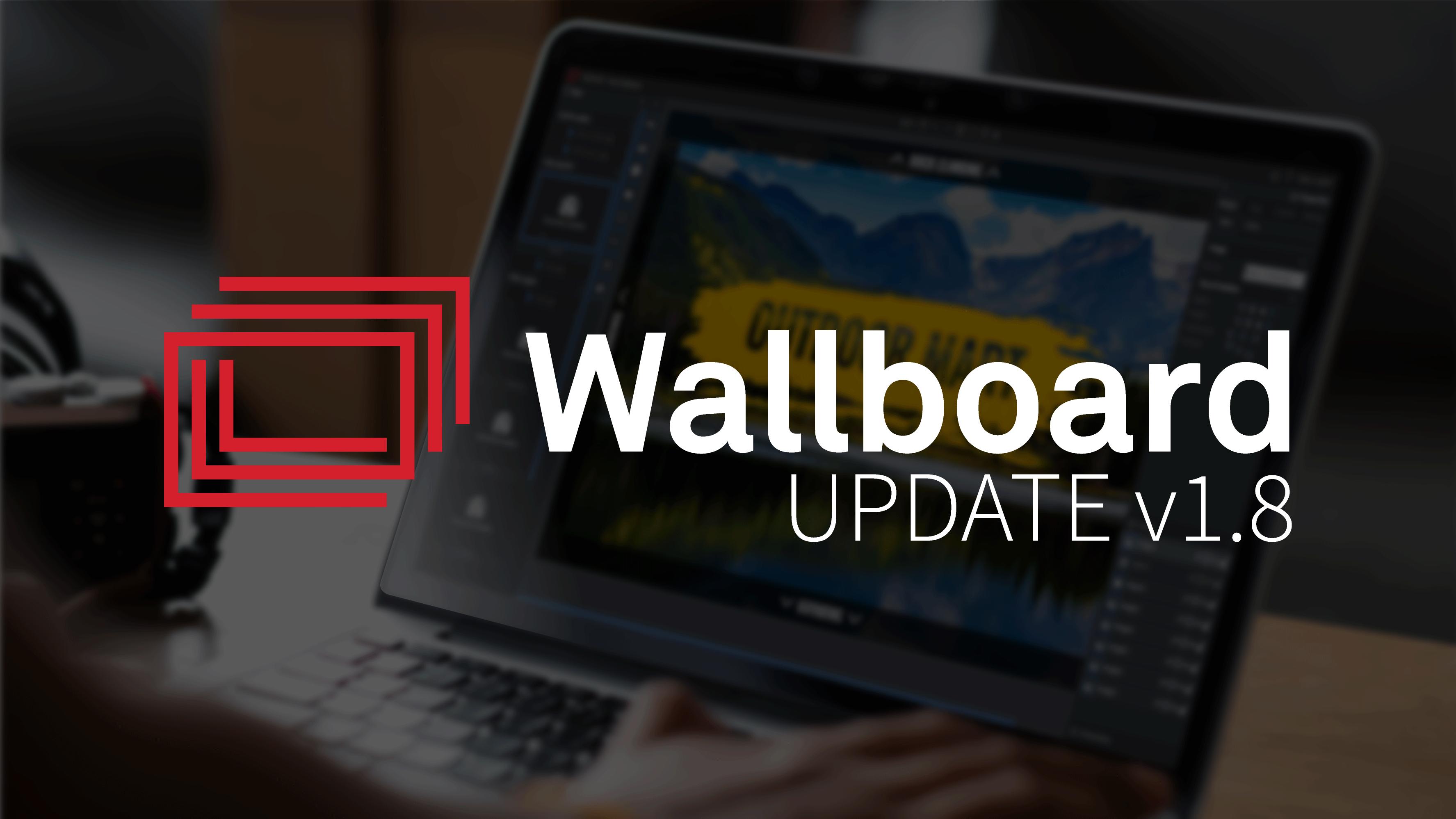Wallboard Server Update v1.8